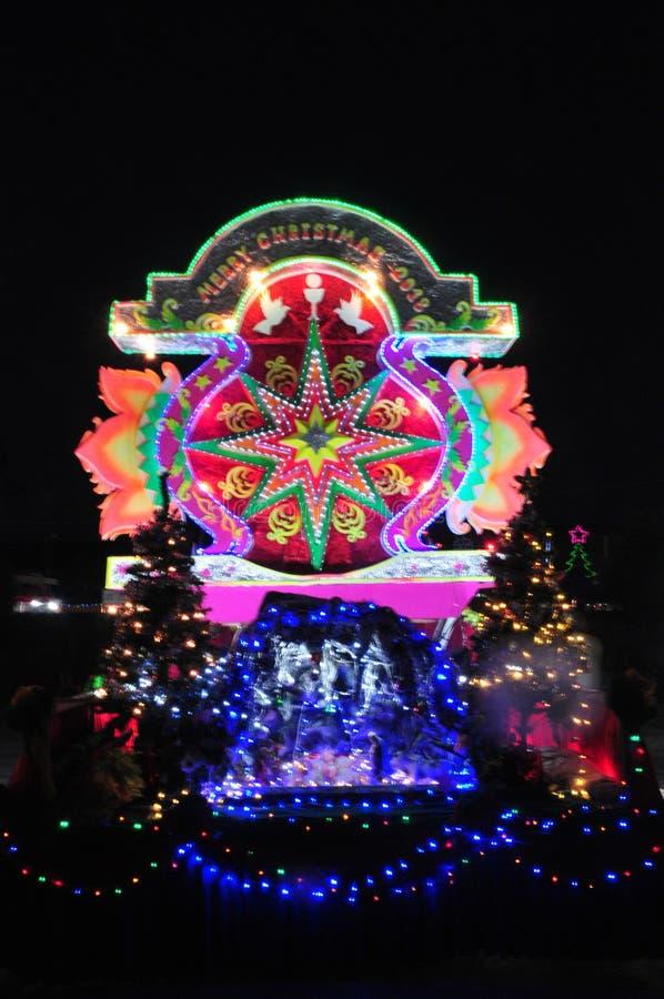 Парад рождества звезд стоковое изображение rf