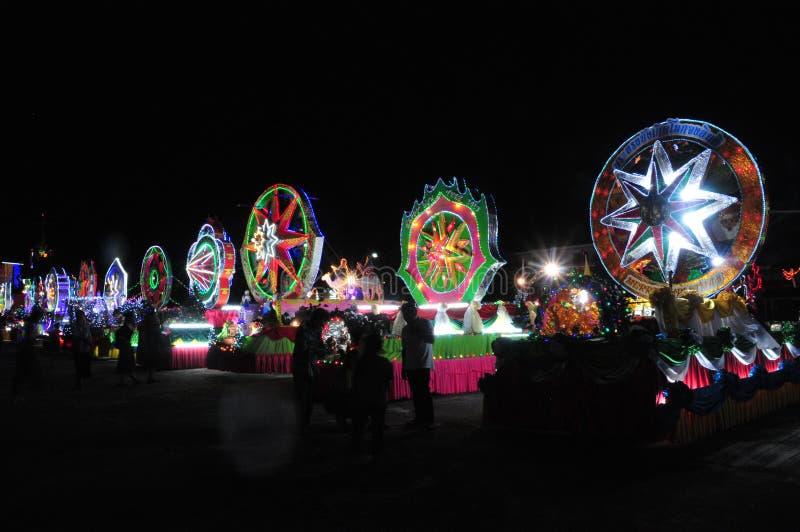 Парад рождества звезд стоковые фотографии rf