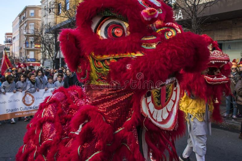 Парад торжества китайского Нового Года, года собаки стоковые фото
