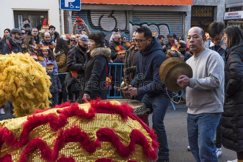 Парад торжества китайского Нового Года, года собаки стоковое фото rf