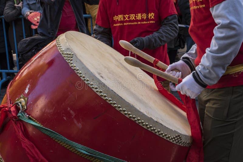 Парад торжества китайского Нового Года, года собаки стоковая фотография
