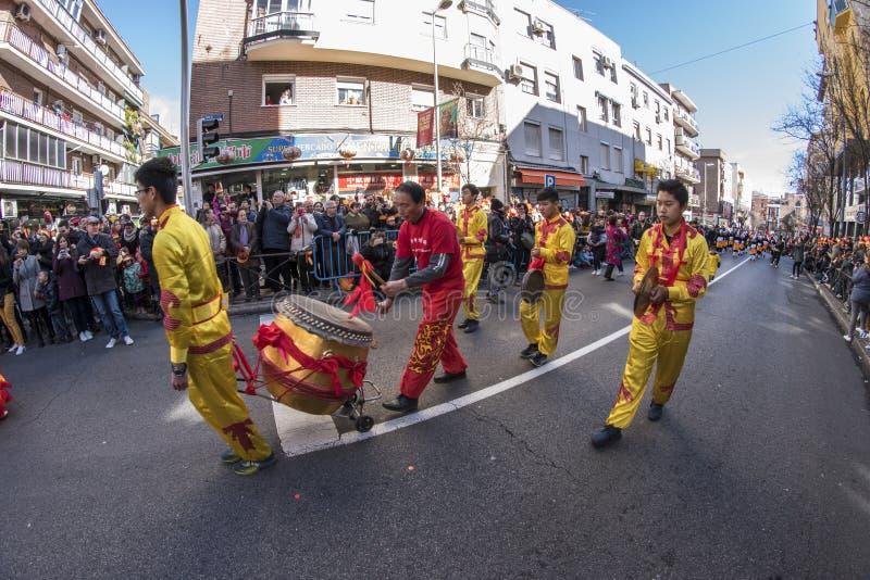 Парад торжества китайского Нового Года, года собаки стоковая фотография rf