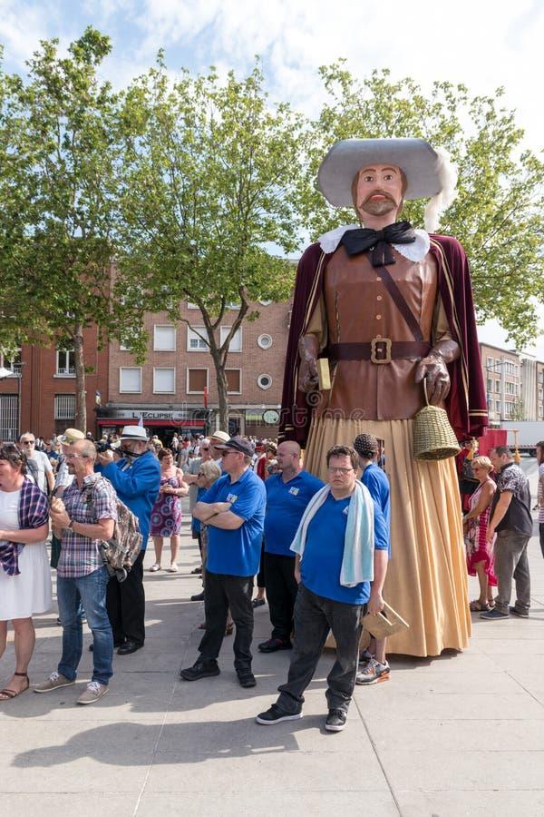 Парад Giants в Дюнкерке - Фландрии стоковые изображения rf