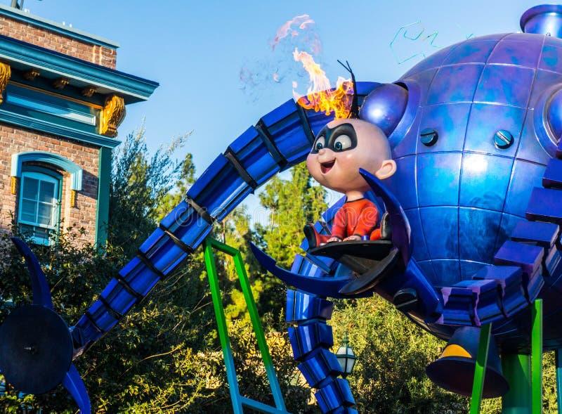 Парад Pixar приключения Калифорнии Incredibles стоковая фотография rf