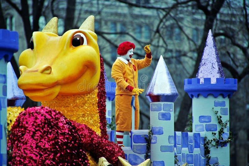 парад santa toronto клоуна claus замока стоковое изображение