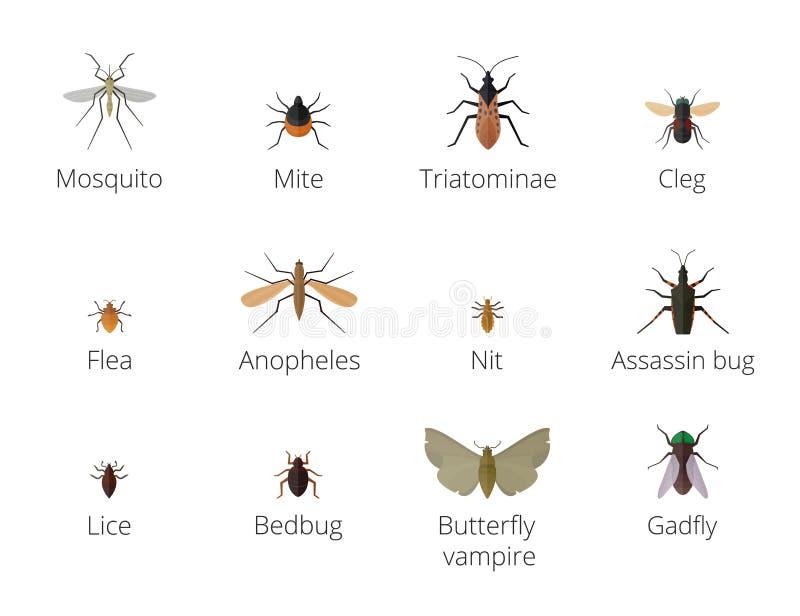 Паразиты насекомого иллюстрация вектора