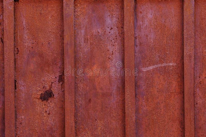 Параллельные металлические листы ржавчины, текстура стоковое фото rf