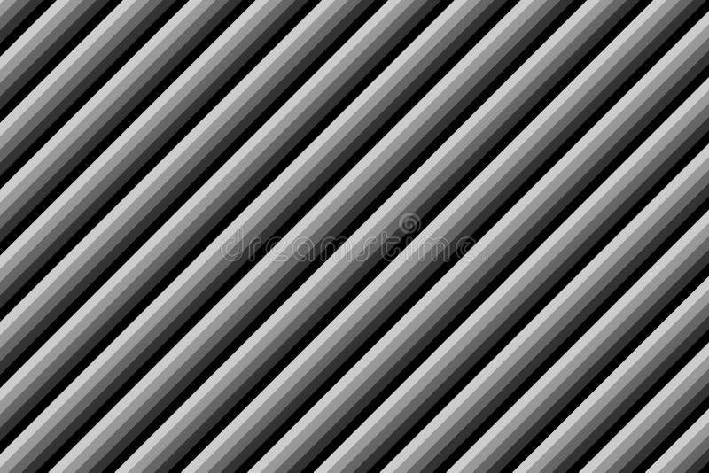 Параллельные раскосные серые линии при пошученное над влияние черных сторон металла стоковое фото