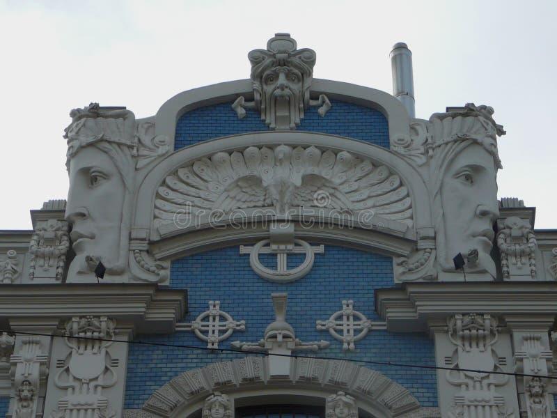 Парапет Dedo искусства Риги стоковое изображение