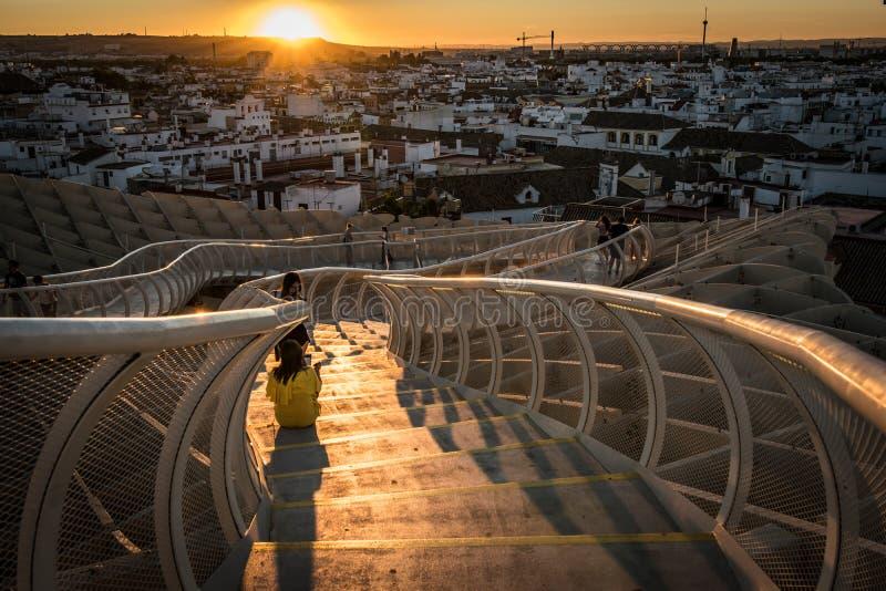 Парасоль Metropol, Setas de Севилья, Испания стоковая фотография