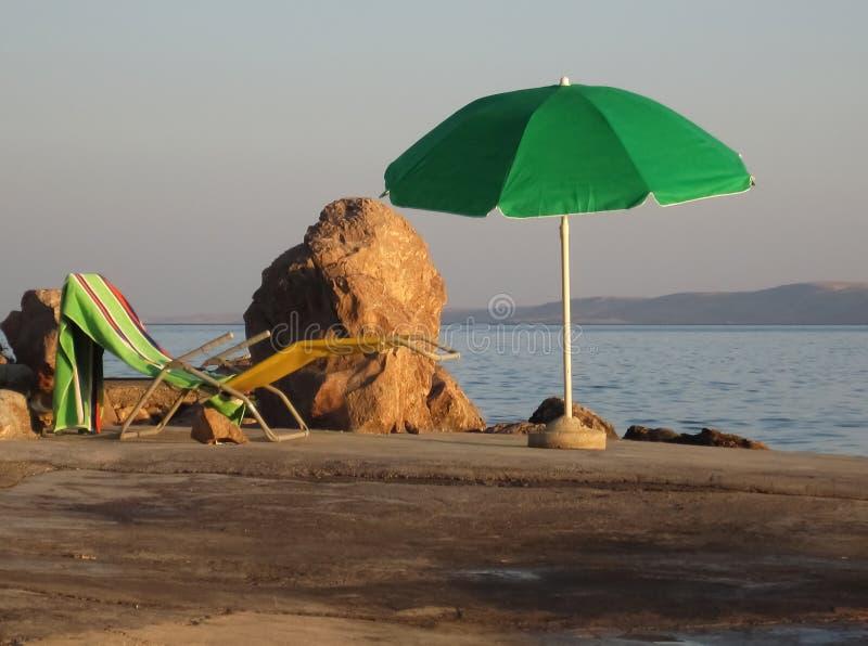 Парасоль на пляже стоковая фотография