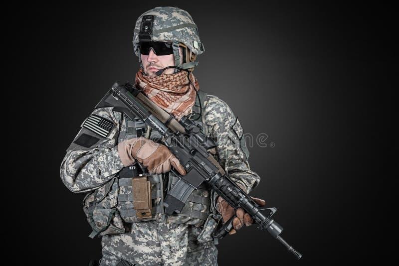 Парашютист Соединенных Штатов стоковое фото
