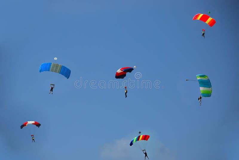 парашюты стоковая фотография rf