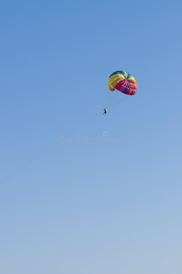 парашют человека стоковое фото
