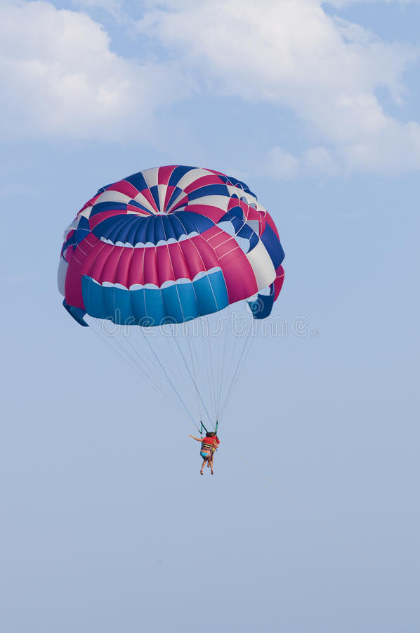 парашют человека стоковые фото