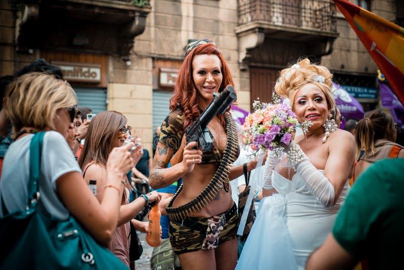 Парад гей-парада в милане 29-ого июня 2013 стоковая фотография