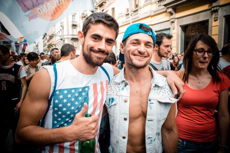 Парад гей-парада в милане 29-ого июня 2013 стоковое фото