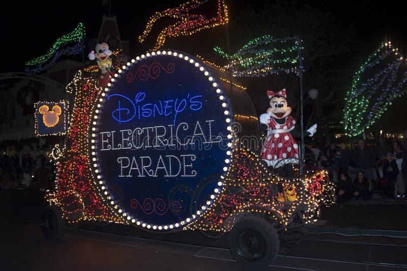 Парад Дисней электрический, мини мышь, волшебное королевство стоковая фотография rf