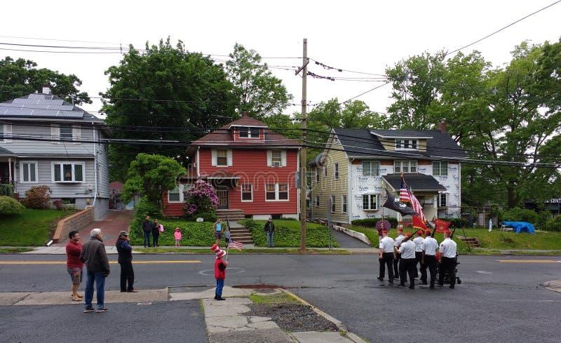 Парад Дня памяти погибших в войнах, США стоковое фото rf