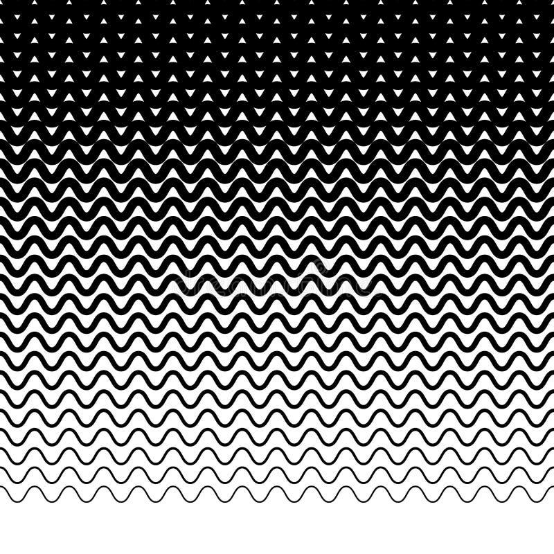Download Параллельные горизонтальные прямые волнист-зигзага - горизонтально Repeatable Иллюстрация вектора - иллюстрации насчитывающей параллель, элемент: 81800452