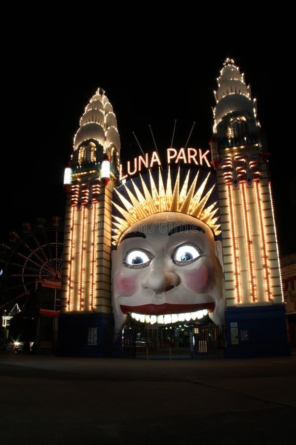 Парадный вход в Luna Park, Сиднее, Австралии стоковое фото