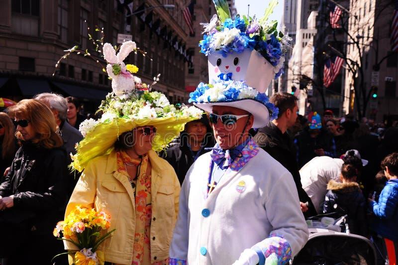 Парад Нью-Йорка пасхи и фестиваль 2015 Bonnet пасхи стоковое фото