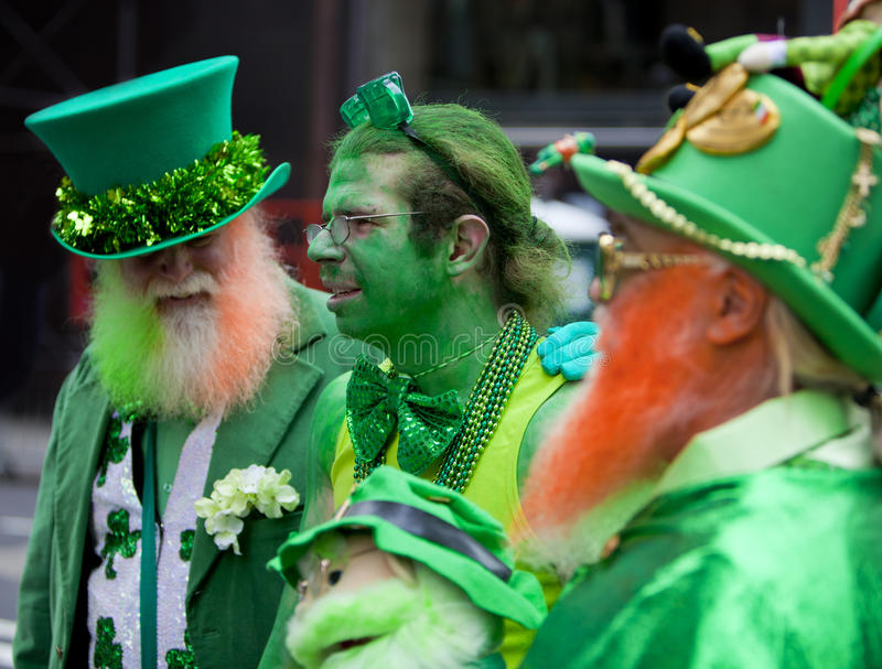 Парад Нью-Йорк 2013 дня St. Patrick стоковая фотография rf