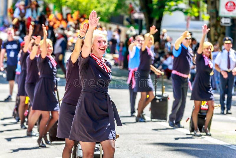 Парад 2014 Портленда грандиозный флористический стоковая фотография rf