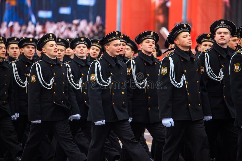 Парад предназначил к 7-ое ноября 1941 на красной площади в Москве 75th годовщина стоковые изображения rf
