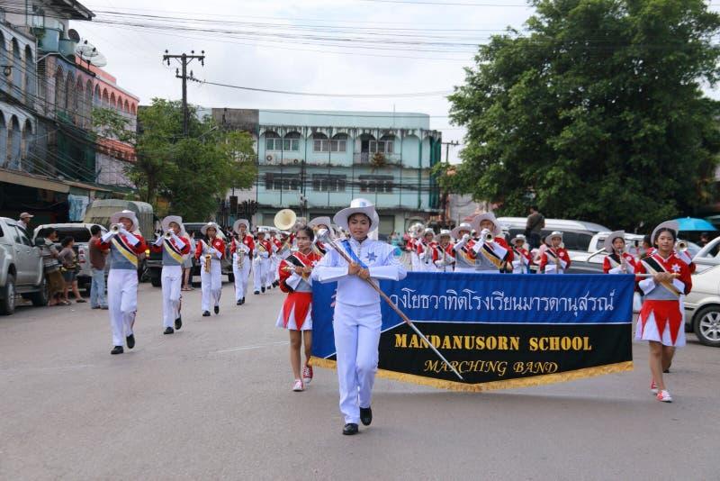 Парад тайского студента стоковые изображения