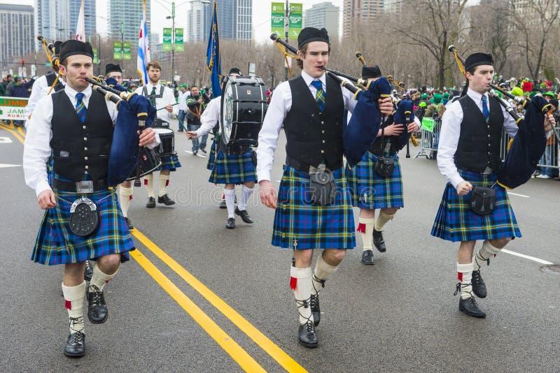 Парад Чикаго St. Patrick стоковая фотография rf