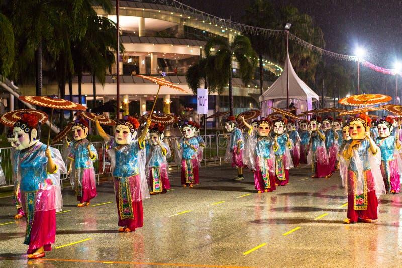 Парад Chingay держится во время китайского Нового Года стоковая фотография rf