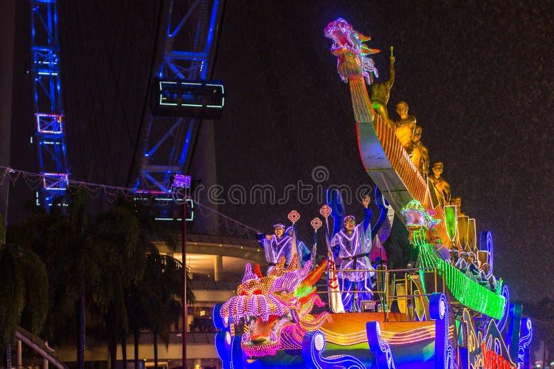 Парад Chingay держится во время китайского Нового Года стоковое фото rf