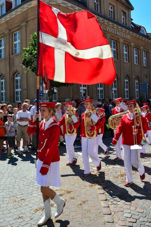 Парад, Sonderborg, Дания стоковые изображения