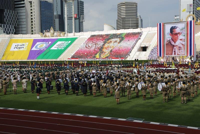 парад thaiscouts стоковые фотографии rf