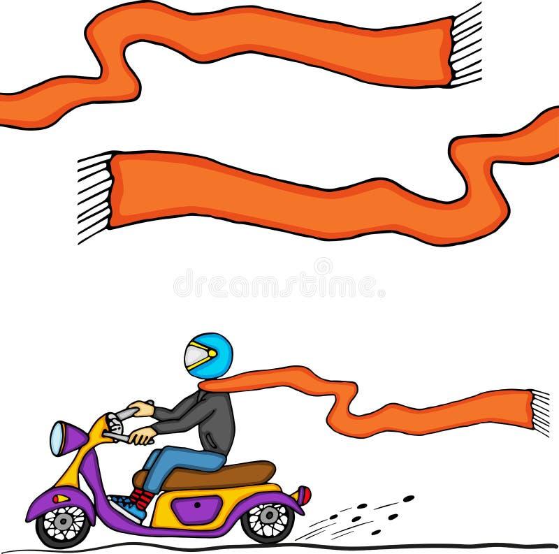 Парень на мотоцикле бесплатная иллюстрация