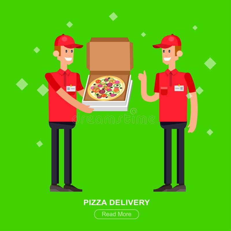 Парень поставки пиццы шаржа бесплатная иллюстрация