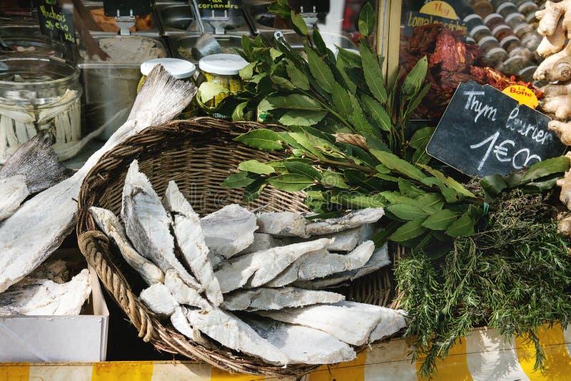 Парижский рынок фермеров стоковая фотография rf