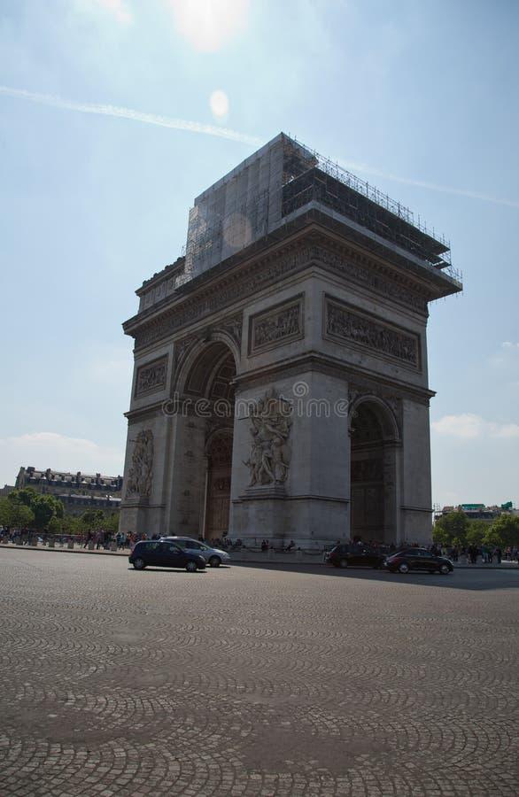 Париж, Арч Де Триомпюе стоковое фото rf