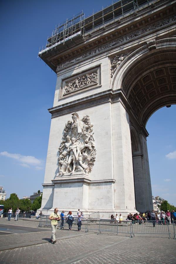 Париж, Арч Де Триомпюе стоковое фото