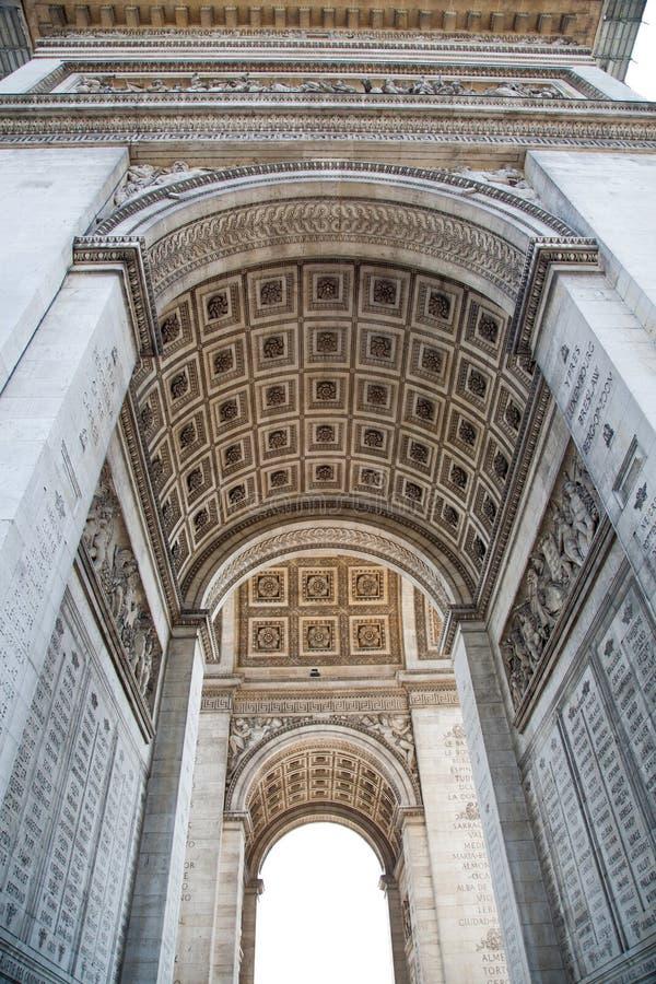 Париж, Арч Де Триомпюе стоковые изображения