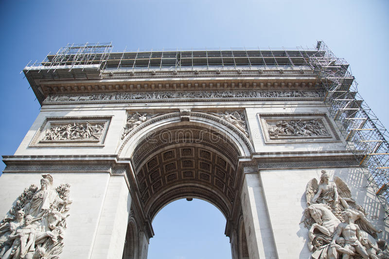 Париж, Арч Де Триомпюе стоковое изображение rf