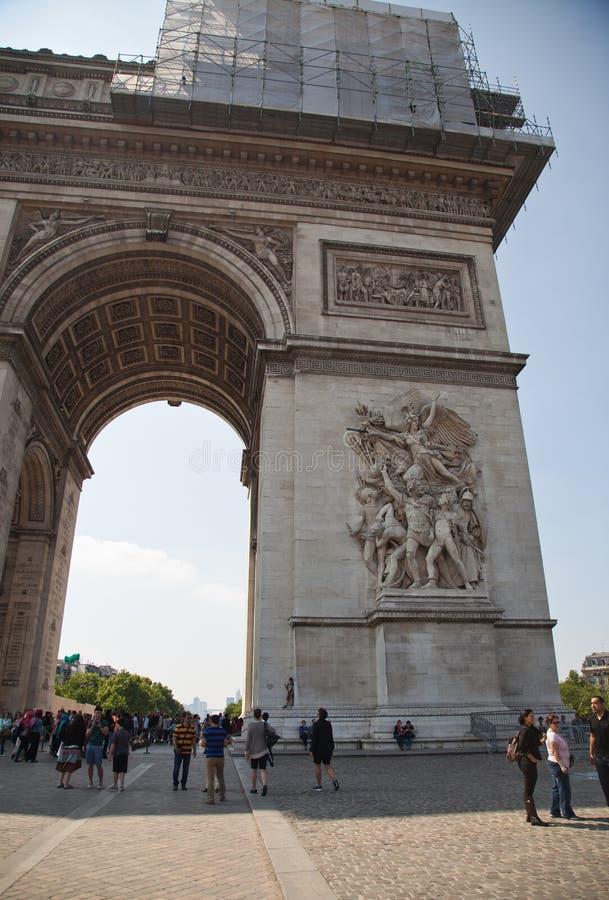 Париж, Арч Де Триомпюе стоковые фотографии rf