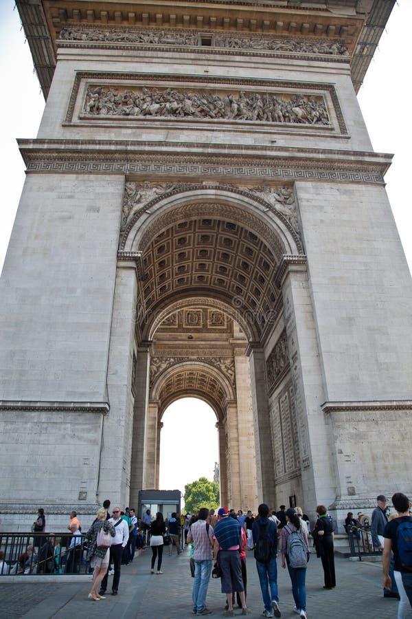 Париж, Арч Де Триомпюе стоковое изображение