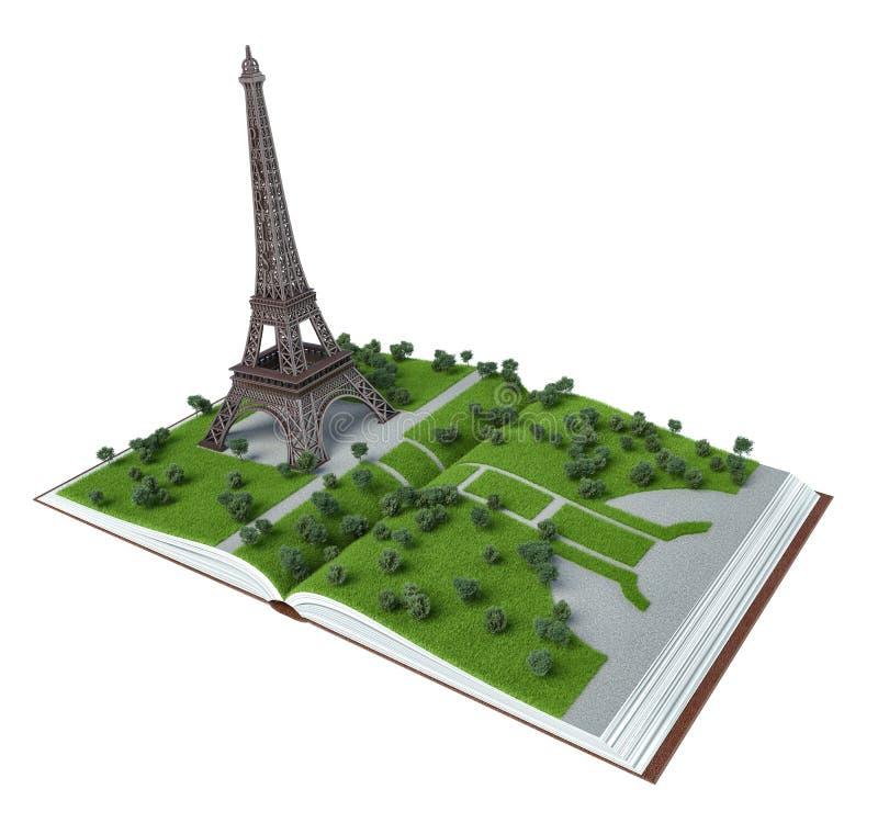 Париж в открытой книге иллюстрация 3d бесплатная иллюстрация