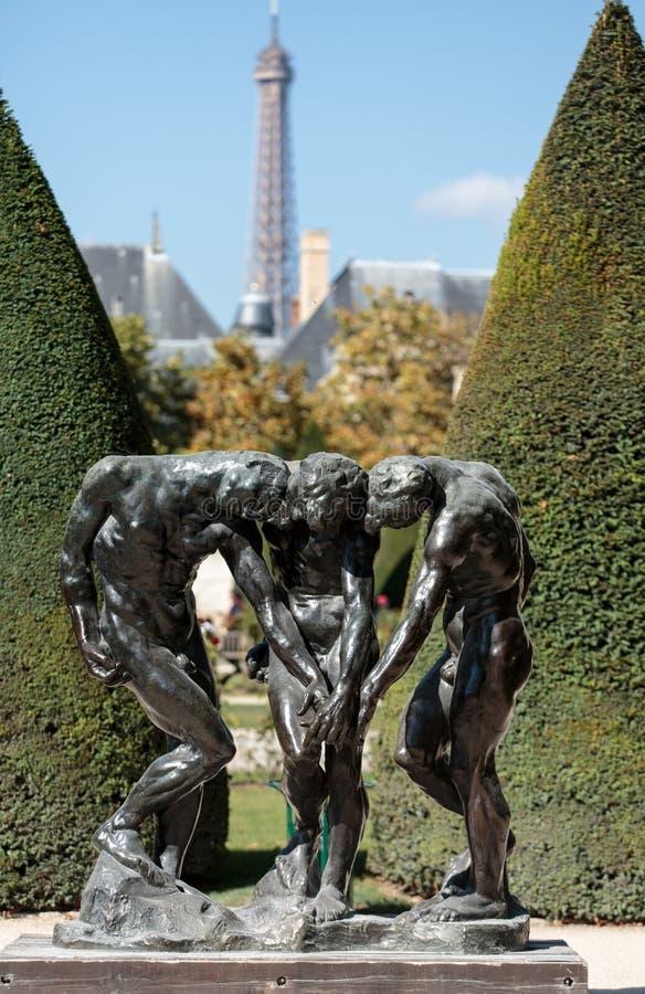 Париж - музей Rodin стоковые фотографии rf