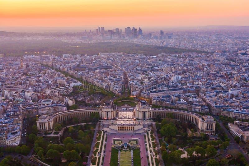 Париж от взгляд сверху стоковые изображения