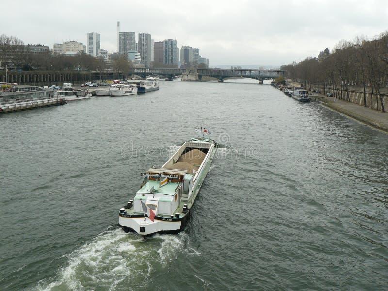 Париж, Река Сена, Франция стоковое изображение