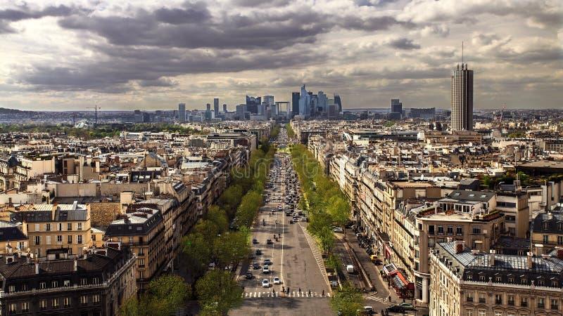 Париж увиденный от вершины Нотр-Дам стоковое фото rf