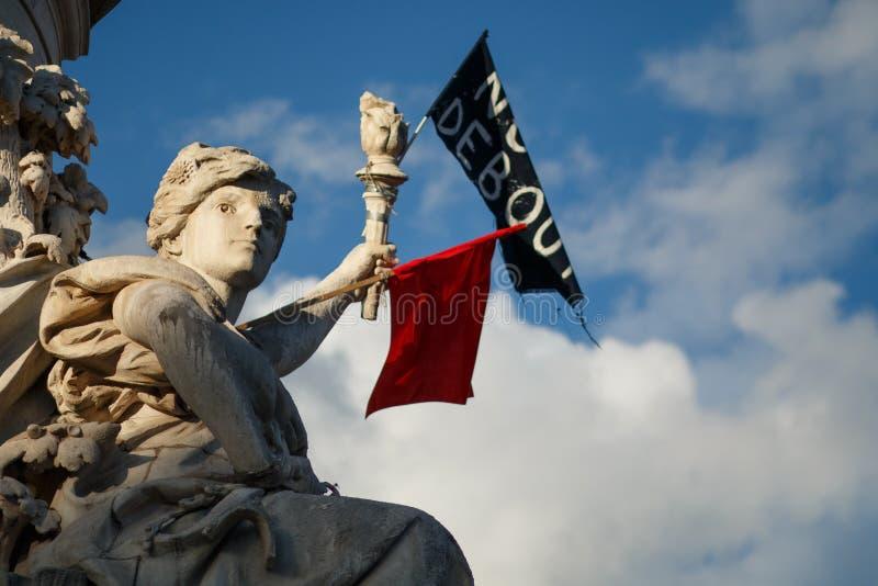 Париж, Place De La Republique, символ свободы стоковая фотография